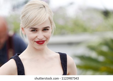 CANNES, FRANCE - MAY 15: Emilia Clarke attends the photo-call of 'Solo: A Star Wars Story' during the 71st Cannes Film Festival on May 15, 2018 in Cannes, France.