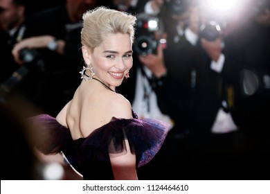 CANNES, FRANCE - MAY 15: Emilia Clarke attends the screening of 'Solo: A Star Wars Story' during the 71st Cannes Film Festival on May 15, 2018 in Cannes, France.