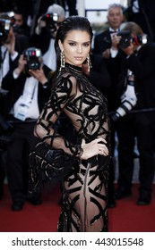 CANNES, FRANCE - MAY 15, Kendall Jenner attends the 'From The Land Of The Moon' premiere during the 69th Cannes Film Festival on May 15, 2016 in Cannes, France.