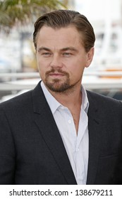 CANNES, FRANCE - MAY 15: Leonardo DiCaprio at the photocall for 'The Great Gatsby' at The 66th Annual Cannes Film Festival at Palais des Festivals on May 15, 2013 in Cannes, France
