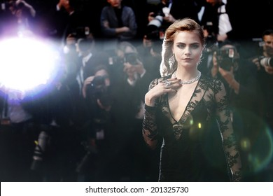CANNES, FRANCE - MAY 15: Model Cara Delevingne attends the Opening Ceremony during the 66th Cannes Film Festival on May 15, 2013 in Cannes, France.