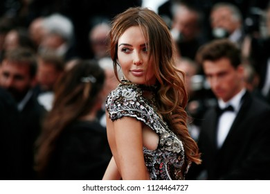 CANNES, FRANCE - MAY 15:  Nabilla Benattia attends the screening of 'Solo: A Star Wars Story' during the 71st Cannes Film Festival on May 15, 2018 in Cannes, France.