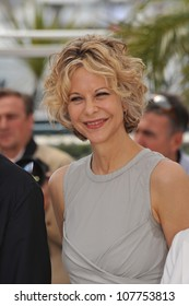 "CANNES, FRANCE - MAY 16, 2010: Meg Ryan at photocall for ""Countdown to Zero"" at the 63rd Festival de Cannes."