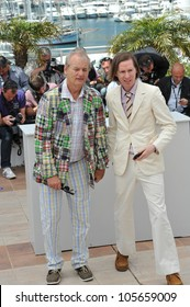 """CANNES, FRANCE - MAY 16, 2012: Bill Murray (left) & director Wes Anderson at the photocall for their new movie """"Moonrise Kingdom"""" at the 65th Festival de Cannes. May 16, 2012  Cannes, France"""