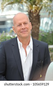 """CANNES, FRANCE - MAY 16, 2012: Bruce Willis at the photocall for his new movie """"Moonrise Kingdom"""" at the 65th Festival de Cannes. May 16, 2012  Cannes, France"""