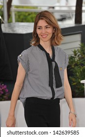 "CANNES, FRANCE - MAY 16, 2013: Director Sofia Coppola at photocall for her new movie ""The Bling Ring"" at the 66th Festival de Cannes."