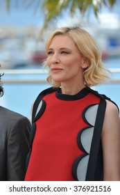 "CANNES, FRANCE - MAY 16, 2014: Cate Blanchett at the photocall for her movie ""How to Train Your Dragon 2"" at the 67th Festival de Cannes."