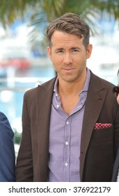 "CANNES, FRANCE - MAY 16, 2014: Ryan Reynolds at the photocall for his movie ""Captives"" at the 67th Festival de Cannes."