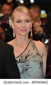 "CANNES, FRANCE - MAY 16, 2015: Naomi Watts at the gala premiere of her movie ""The Sea of Trees"" at the 68th Festival de Cannes."