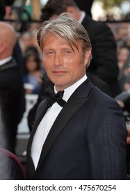 "CANNES, FRANCE - MAY 16, 2016: Actor Mads Mikkelsen at the gala premiere for ""Loving"" at the 69th Festival de Cannes."