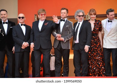 "CANNES, FRANCE. May 16, 2019: Sir Elton John & Rocketman cast at the gala premiere for ""Rocketman"" at the Festival de Cannes.
