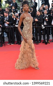 """CANNES, FRANCE. May 16, 2019: Maria Borges  at the gala premiere for """"Rocketman"""" at the Festival de Cannes.Picture: Paul Smith / Featureflash"""