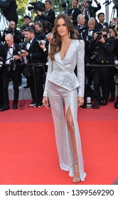 "CANNES, FRANCE. May 16, 2019: Izabel Goulart at the gala premiere for ""Rocketman"" at the Festival de Cannes.