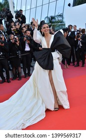 "CANNES, FRANCE. May 16, 2019: Depeeka Padukone at the gala premiere for ""Rocketman"" at the Festival de Cannes.