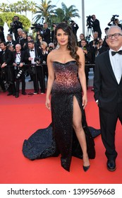 "CANNES, FRANCE. May 16, 2019: Priyanka Chopra  at the gala premiere for ""Rocketman"" at the Festival de Cannes.