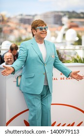 "CANNES, FRANCE - MAY 16, 2019:  Sir Elton John attends the photocall for ""Rocketman"" during the 72nd annual Cannes Film Festival"