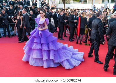 "CANNES, FRANCE - MAY 16, 2019: Sririta Jensen attends the screening of ""Rocketman"" during the 72nd annual Cannes Film Festival"