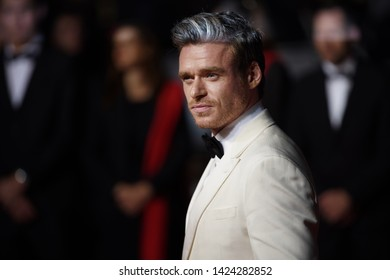 "CANNES, FRANCE. May 16, 2019: Richard Madden at the gala premiere for ""Rocketman"" at the Festival de Cannes."