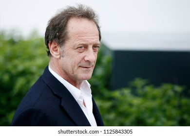 CANNES, FRANCE - MAY 16: Actor Vincent Lindon attends the photo-call of 'In War' during the 71st Cannes Film Festival on May 16, 2018 in Cannes, France.