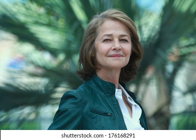 CANNES, FRANCE - MAY 16: British actress Charlotte Rampling during the photocall of 'The Look' presented in the Cannes Classics selection at the 64th Cannes Film Festival on May 16, 2011 in Cannes.
