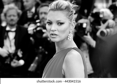 CANNES, FRANCE - MAY 16: Kate Moss attends the 'Loving' premiere during the 69th Cannes Film Festival on May 16, 2016 in Cannes, France.