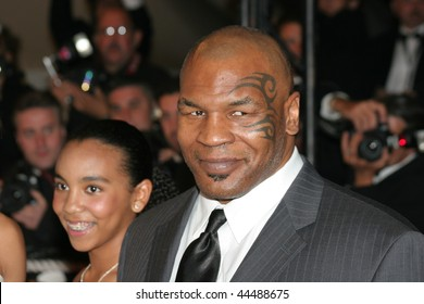 CANNES, FRANCE - MAY 16: Mike Tyson attends the 'Les Trois Singes' and 'Tyson' premiere at the Palais des Festivals during the 61st Cannes International Film Festival on May 16, 2008 in Cannes, France