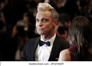 CANNES, FRANCE- MAY 16: Robbie Williams attends 'The Sea Of Trees' Premiere during the 68th Cannes Film Festival on May 16, 2015 in Cannes, France.