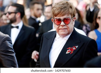 "CANNES, FRANCE - MAY 16: Sir Elton John attends the premiere of the movie ""Rocketman"" during the 72nd Cannes Film Festival on May 16, 2019 in Cannes, France."