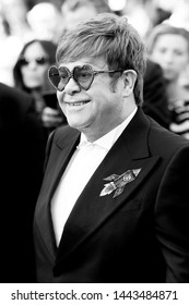 """CANNES, FRANCE - MAY 16: Sir Elton John attends the premiere of the movie """"Rocketman"""" during the 72nd Cannes Film Festival on May 16, 2019 in Cannes, France."""