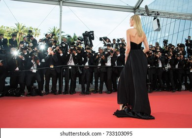 CANNES, FRANCE - MAY 16: Toni Garrn  attends the 'Loving' premiere during the 69th annual Cannes Film Festival at the Palais des Festivals on May 16, 2016 in Cannes