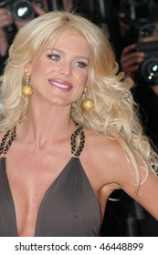 CANNES, FRANCE - MAY 16: Victoria Silvstedt attends the opening evening of the FIF 2007 with the screening of the Wong Kar Wai's movie ''My Blueberry Nights'' on May 16, 2007 in Paris, France.