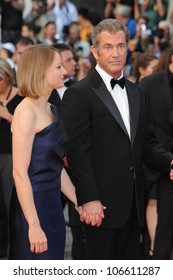 """CANNES, FRANCE - MAY 17, 2011: Mel Gibson & Jodie Foster at the gala premiere of their new movie """"The Beaver"""" in competition at the 64th Festival de Cannes. May 17, 2011  Cannes, France"""