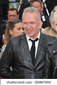 """CANNES, FRANCE - MAY 17, 2014: Jean Paul Gaultier at gala premiere of """"Saint-Laurent"""" at the 67th Festival de Cannes."""