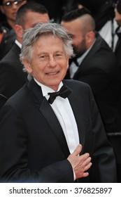 "CANNES, FRANCE - MAY 17, 2014: Roman Polanski at gala premiere of ""Saint-Laurent"" at the 67th Festival de Cannes."