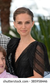 """CANNES, FRANCE - MAY 17, 2015: Natalie Portman at the photocall for her movie """"A Tale of Love and Darkness"""" at the 68th Festival de Cannes."""