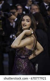 CANNES, FRANCE - MAY 17, 2017: Deepika Padukone attends the 'Ismael's Ghosts (Les Fantomes d'Ismael)' screening and Opening Gala during the 70th annual Cannes Film Festival at Palais des Festivals