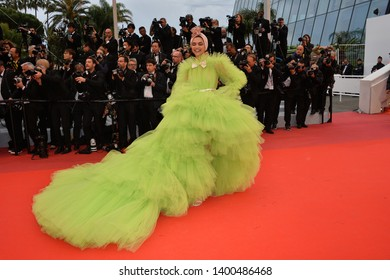 "CANNES, FRANCE. May 17, 2019: Deepika Padukone  at the gala premiere for ""Pain and Glory"" at the Festival de Cannes.
