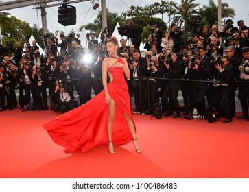 """CANNES, FRANCE. May 17, 2019: Bella Hadid at the gala premiere for """"Pain and Glory"""" at the Festival de Cannes.Picture: Paul Smith / Featureflash"""