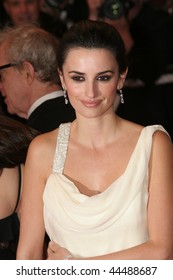CANNES, FRANCE - MAY 17: Actress Penelope Cruz attends the Vicky Cristina Barcelona premiere at the Palais des Festivals during the 61st Cannes  Film Festival on May 17, 2008 in Cannes, France