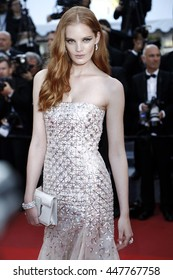 CANNES, FRANCE - MAY 17: Alexina Graham attends the premiere of 'Julieta' during the 69th Cannes Film Festival on May 17, 2016 in Cannes, France.