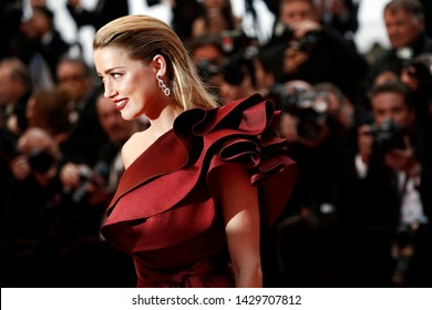 """CANNES, FRANCE - MAY 17: Amber Heard attends the premiere of the movie """"Pain And Glory"""" during the 72nd Cannes Film Festival on May 17, 2019 in Cannes, France."""