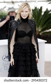 CANNES, FRANCE- MAY 17: Cate Blanchett attends the 'Carol' photo-call during the 68th Cannes Film Festival on May 17, 2015 in Cannes, France.