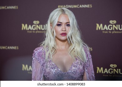 CANNES, FRANCE - MAY 17 : Rita Ora, at the photocall for the magnum beach on may 17, 2019 in cannes