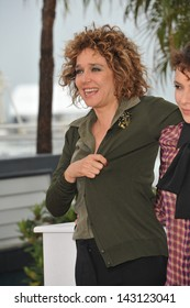 """CANNES, FRANCE - MAY 18, 2013: Valeria Golino at photocall for her movie """"Miele"""" at the 66th Festival de Cannes."""
