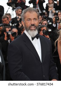 """CANNES, FRANCE - MAY 18, 2014: Mel Gibson promotiing his new movie """"The Expendable 3"""" at the 67th Festival de Cannes."""