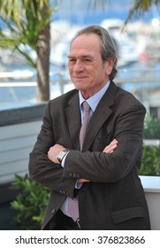 """CANNES, FRANCE - MAY 18, 2014: Tommy Lee Jones at the photocall for his new movie """"The Homesman"""" at the 67th Festival de Cannes."""