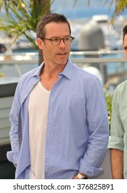 """CANNES, FRANCE - MAY 18, 2014: Guy Pearce at the photocall for his movie """"The Rover"""" at the 67th Festival de Cannes."""