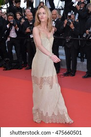 """CANNES, FRANCE - MAY 18, 2016: Actress Vanessa Paradis at the gala premiere of """"The Unknown Girl"""" (""""La Fille Inconnue"""") at the 69th Festival de Cannes."""