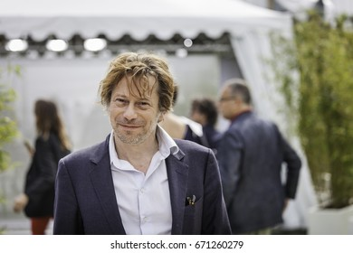 CANNES, FRANCE - MAY 18, 2017:  actor Mathieu Amalric attends the 'Barbara' photocall during the 70th annual Cannes Film Festival at Palais des Festivals