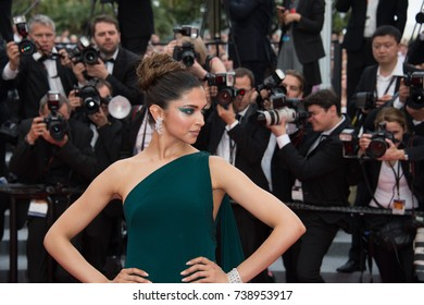 "CANNES, FRANCE. May 18, 2017: Deepika Padukone at the premiere for ""Loveless"" at the 70th Festival de Cannes"